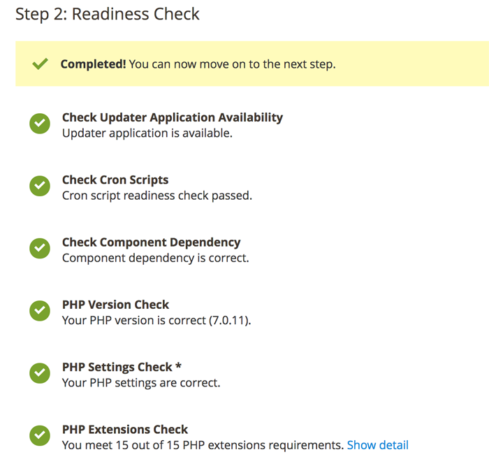 Readiness Check