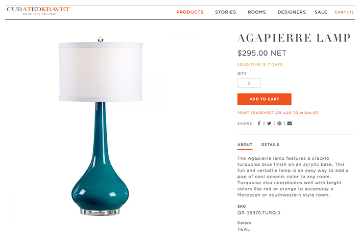 CuratedKravet.com Product Page